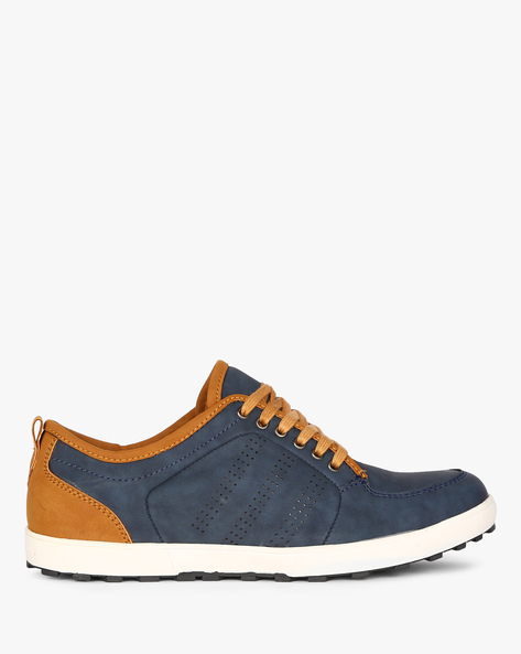 Low-Top Sneakers With Perforations By CLOZZ ( Navy )