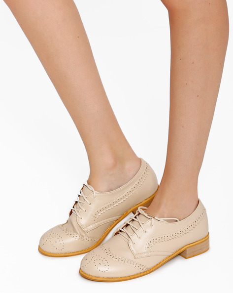 Full-Brogue Derby Shoes By My Foot ( Peach )