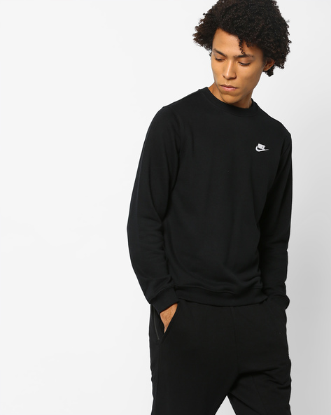 Sportswear T-shirt With Signature Branding By NIKE ( Black )