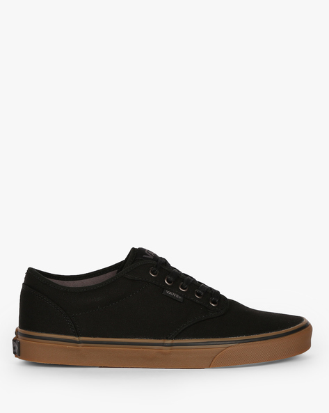 Atwood Lace-Up Casual Shoes By Vans ( Black )