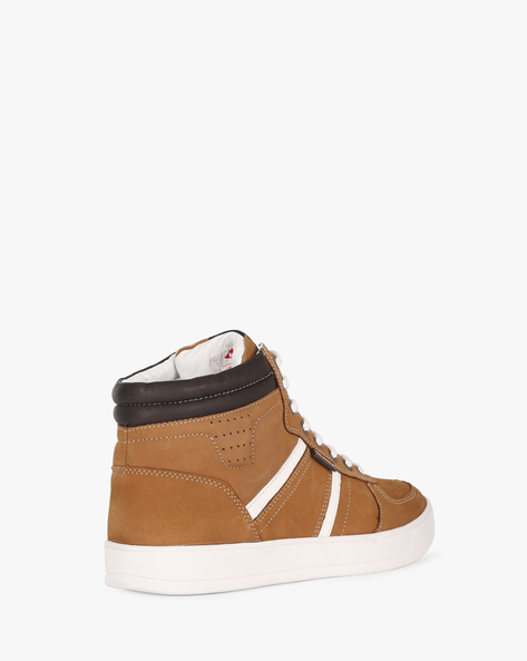 High-Top Panelled Casual Shoes By Lee Cooper ( Camel )
