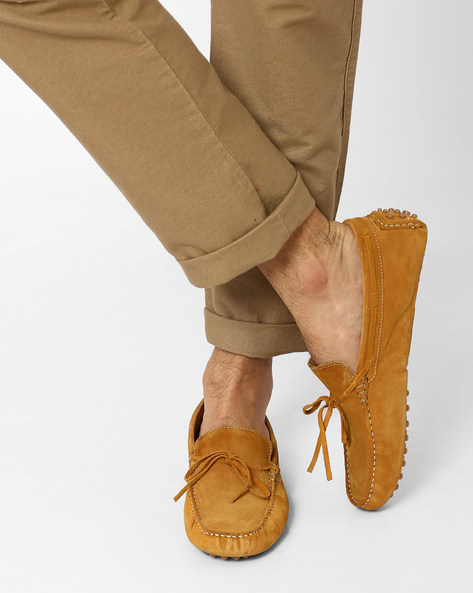 N9 Treated Suede Loafers By AJIO ( Brown )