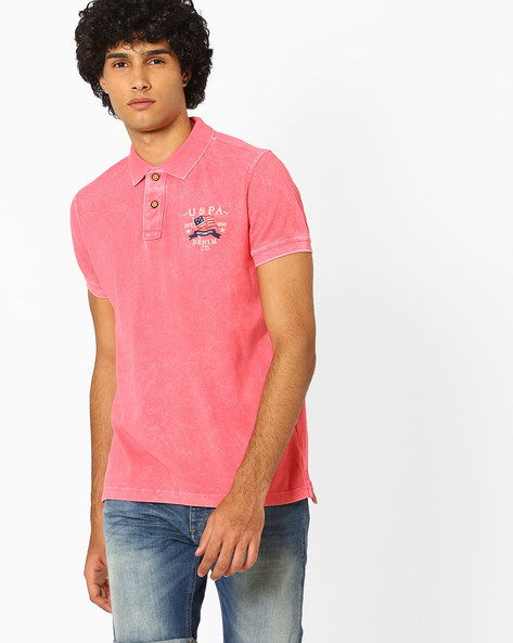 Regular Fit Cotton Polo T-shirt By US POLO ( Assorted )