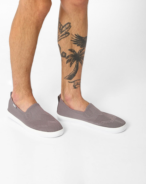 Textured Fabric Slip-Ons By Lee Cooper ( Grey )