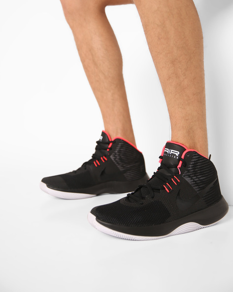 Casual Shoes With Lace-Up Fastening By NIKE ( Black )