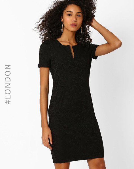 Jacquard Tailored Dress By Zibi London ( Black )