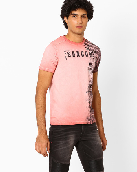 Graphic Print T-shirt By Garcon ( Pink )