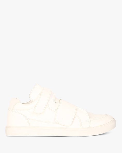 N9-Treated Sneakers With Velcro Closure By AJIO ( White )