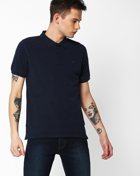 Slim Fit Polo T-shirt By Lee ( Navy )
