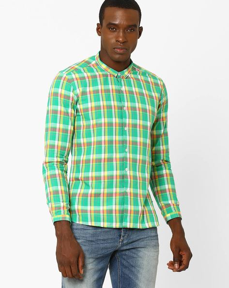 Checked Slim Fit Shirt By VOI JEANS ( Multi ) - 460038988001