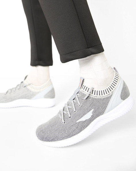 Low-Top Lace-Up Sports Shoes By RED TAPE ( Grey )