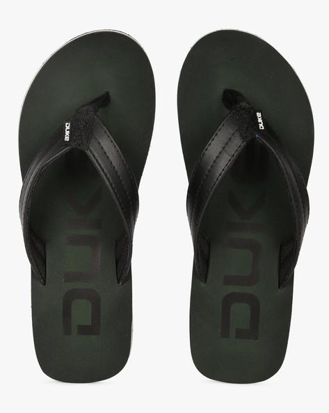 Thong-Style Flip-Flops With Branding By DUKE ( Darkgreen )
