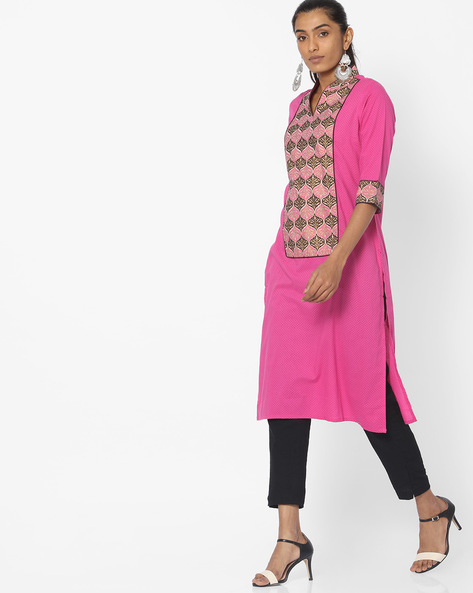 Printed Straight Kurta By Jiyaa ( Red )