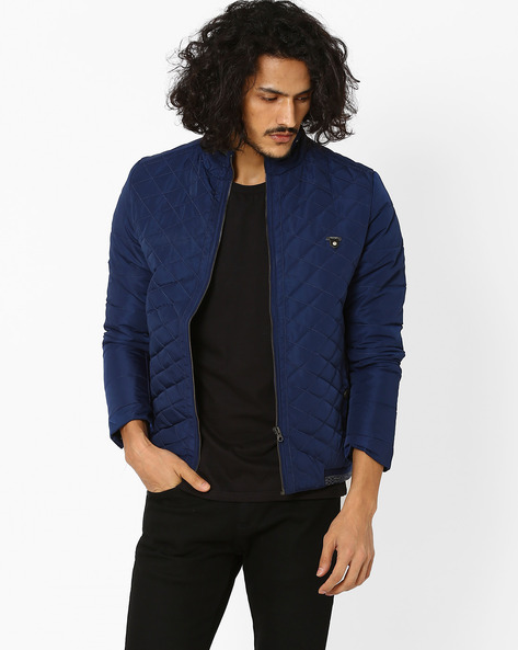 Padded Quilted Jacket By Fort Collins ( Navy )