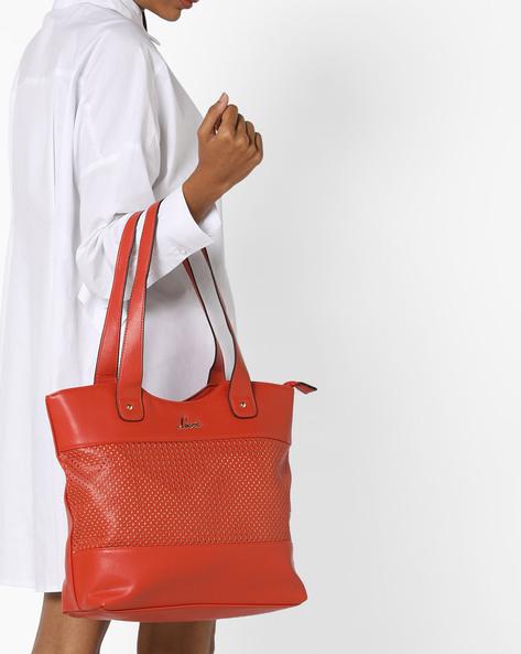 Laser-Cut Tote Bag By Lavie ( Orange )