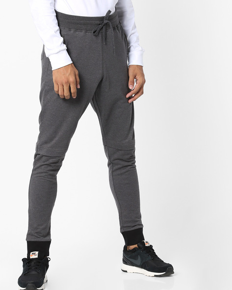 Mid-Rise Track Pants With Elasticated Waist By Garcon ( Darkgrey )