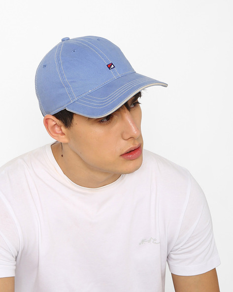 Baseball Cap With Embroidery By Feathers ( Lightblue )