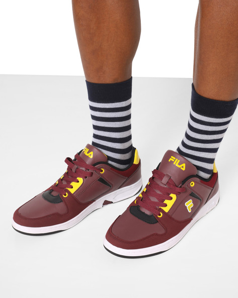 Erol Lace-Up Casual Shoes By FILA ( Brown )