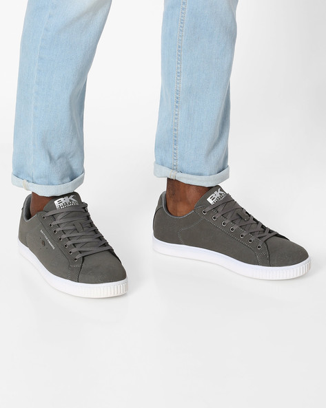 Duke Lace-Up Casual Shoes By British Knights ( Darkgrey )