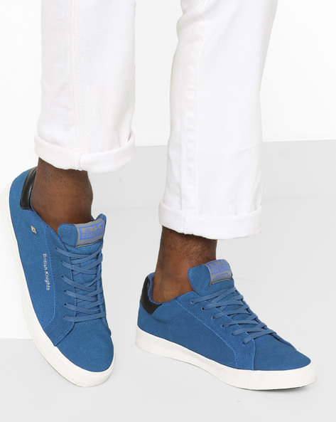 Lace-Up Casual Shoes By British Knights ( Blue )