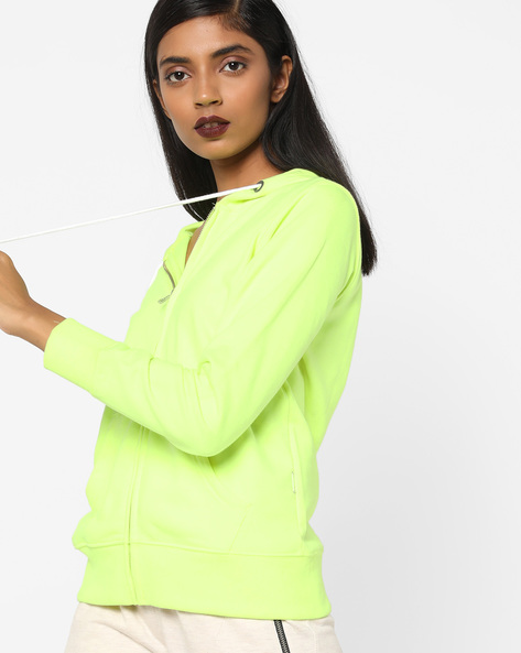 Hooded Sweatshirt With Front Zipper By Lee ( Green )