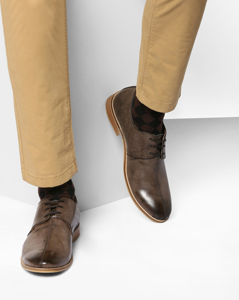 Derby Shoes With Handmade Sole By TURN ( Brown )