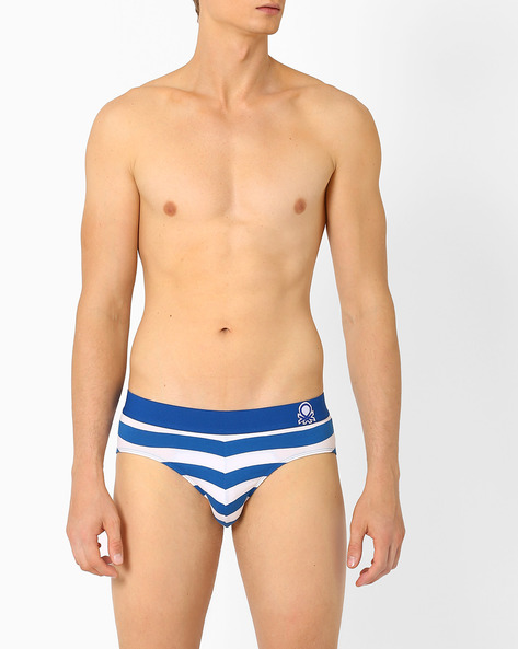 P16 DI Striped V-briefs By Under Colors Of Benetton ( Lightblue )