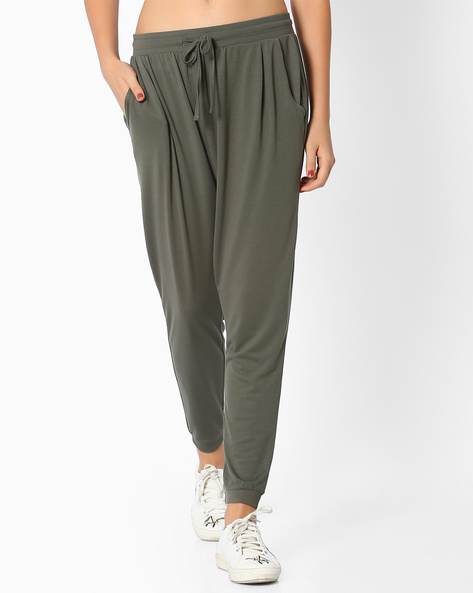 Cuffed Track Pants By Ginger ( Olive )