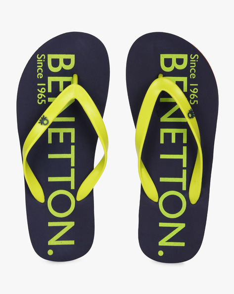 Thong-Style Flip-Flops By UNITED COLORS OF BENETTON ( Blue )