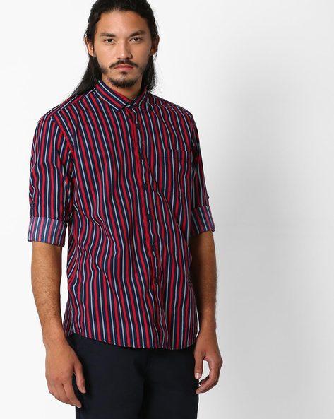 Regular Fit Printed Shirt By NETPLAY ( Maroonburg )
