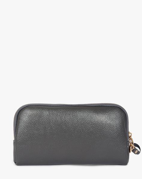 Textured Wallet By Lino Perros ( Grey )