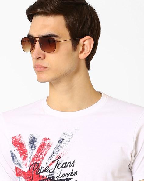 Rectangular Sunglasses With Top Bar By Joe Black ( Brown )