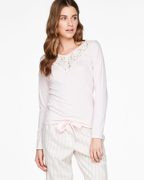 Top With Lace Yoke By Hunkemoller ( Blsh )