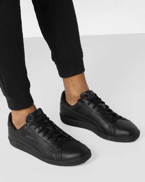 Lace-Up Casual Shoes By Puma ( Black )