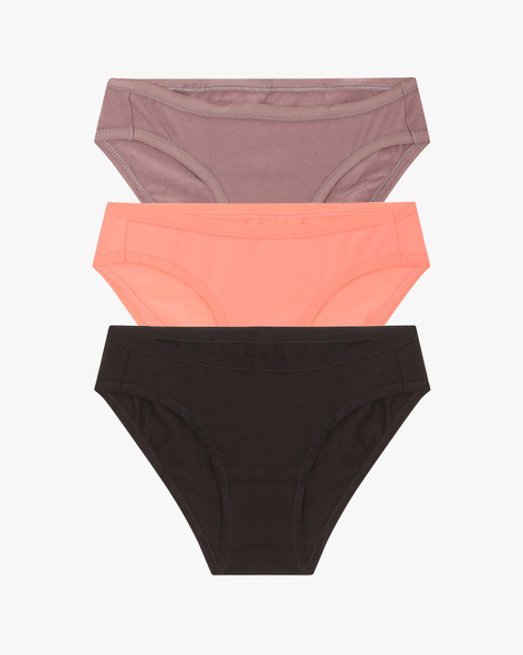 Pack Of 3 Hipster Panties By Amante ( Multicolor )