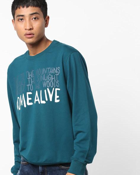 Typographic Print Crew-Neck Sweatshirt By Wildcraft ( Multi )