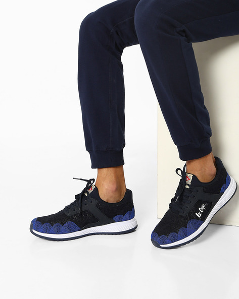 Lace-Up Sports Shoes By Lee Cooper ( Navyblue )