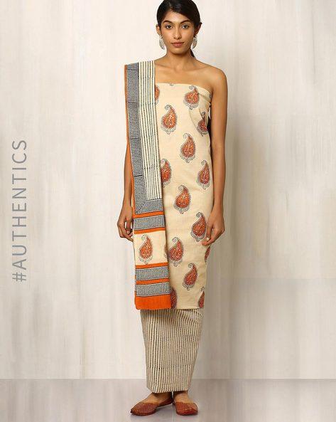 Bagru Print Cotton Dress Material By Indie Picks ( Multi ) - 460016878001