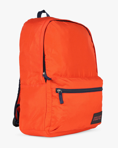 Colourblock Laptop Backpack By UNITED COLORS OF BENETTON ( Orange )