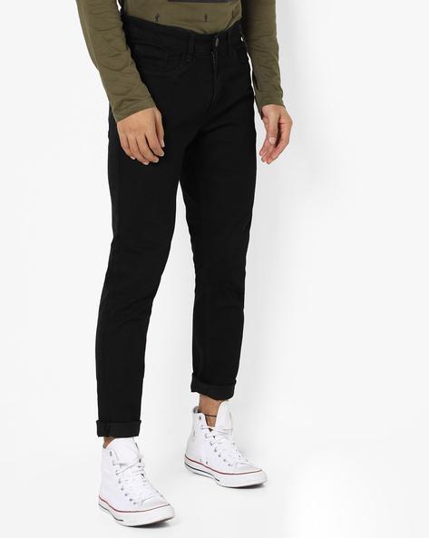 Slim Fit High-Rise Jeans By Highlander ( Black )