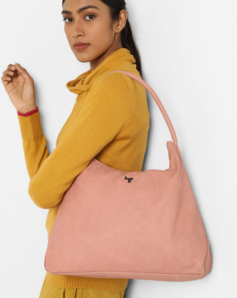 Hailey Tote Bag With Short Handle By BAGGIT ( Rose )