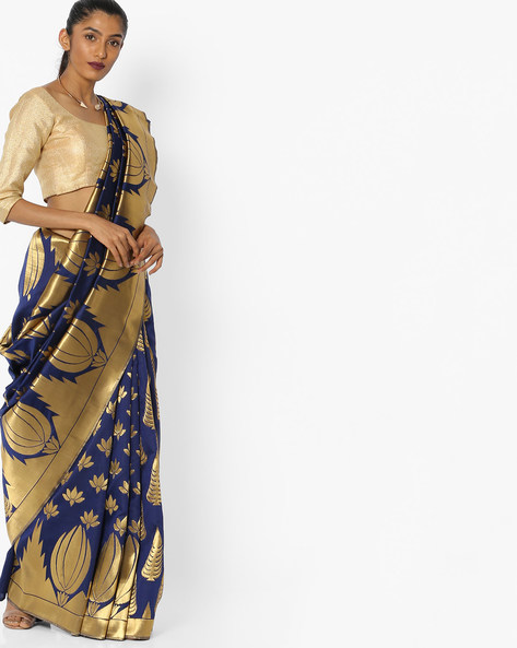 Floral Printed Saree By CHHABRA 555 ( Blue )