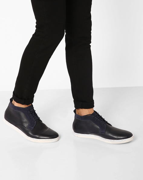 Lace-Up Casual Shoes By AJIO ( Navy )