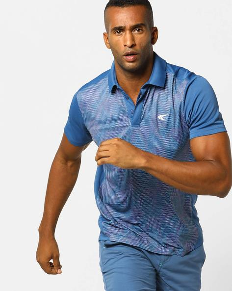 Sublimation Print Tennis Polo T-shirt By PERFORMAX ( Darkblue )