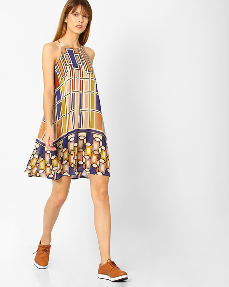 Geometric Print Trapeze Dress By And ( Multi )