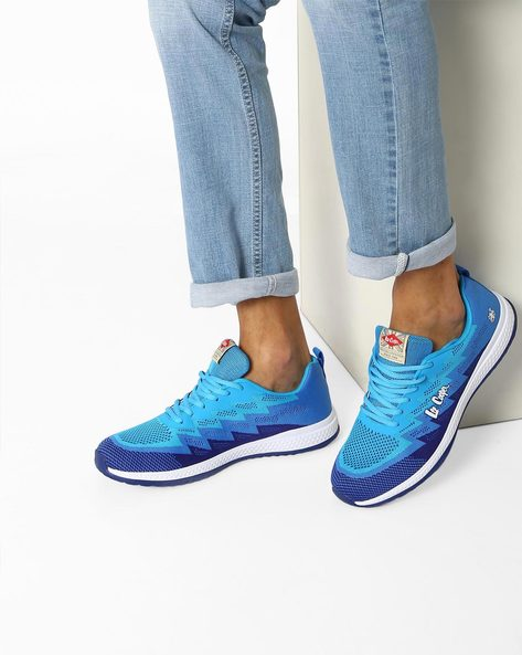Colourblock Lace-Up Sports Shoes By Lee Cooper ( Navyblue )