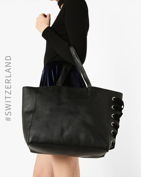 Tote Bag With Short Handles By TALLY WEiJL ( Black )