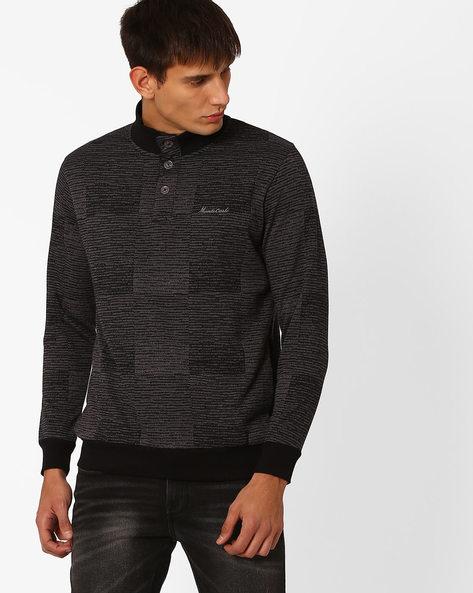 Regular Fit Fleece Sweatshirt By MONTE CARLO ( Maroon )