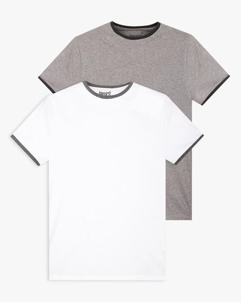 Pack Of 2 Ringer T-shirts By BASICS ( White )