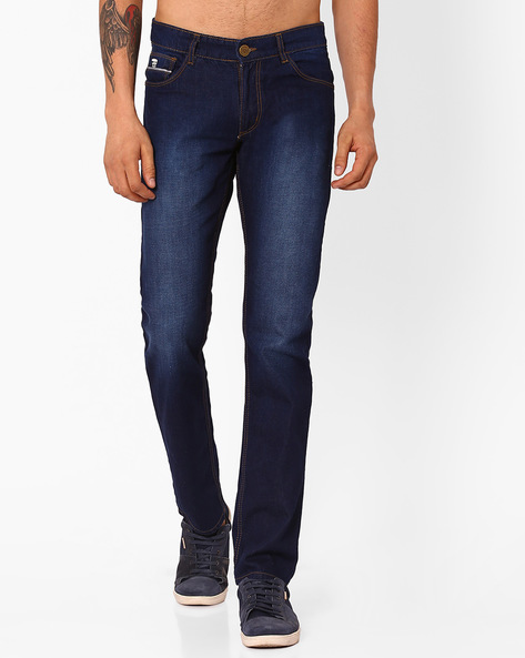 Lightly Washed Slim Fit Jeans By JOHN PLAYERS ( Blue ) - 440748652004